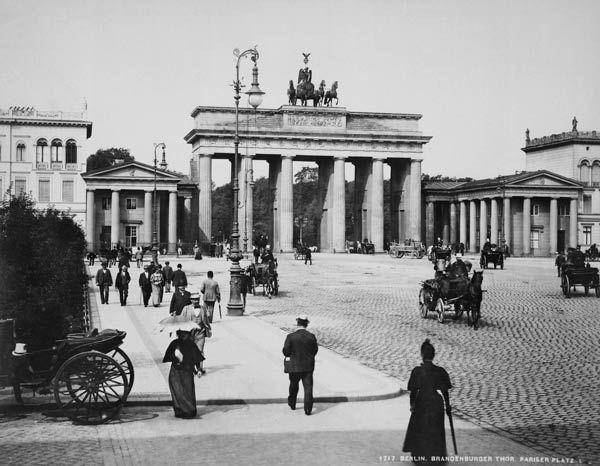 Brandenburg Gate Berlin Ca 1900 History Of Germany Brandenburg Gate Berlin