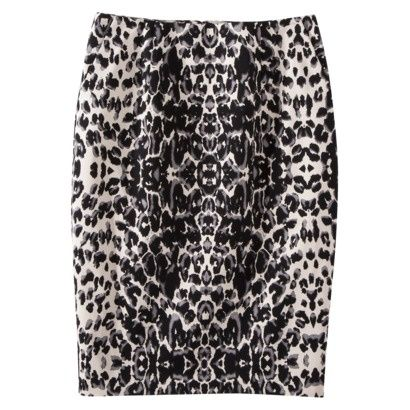 de6897266987f Mossimo Womens Zipper Leopard Pencil Skirt - bought this today! Need some  fuchsia shoes.