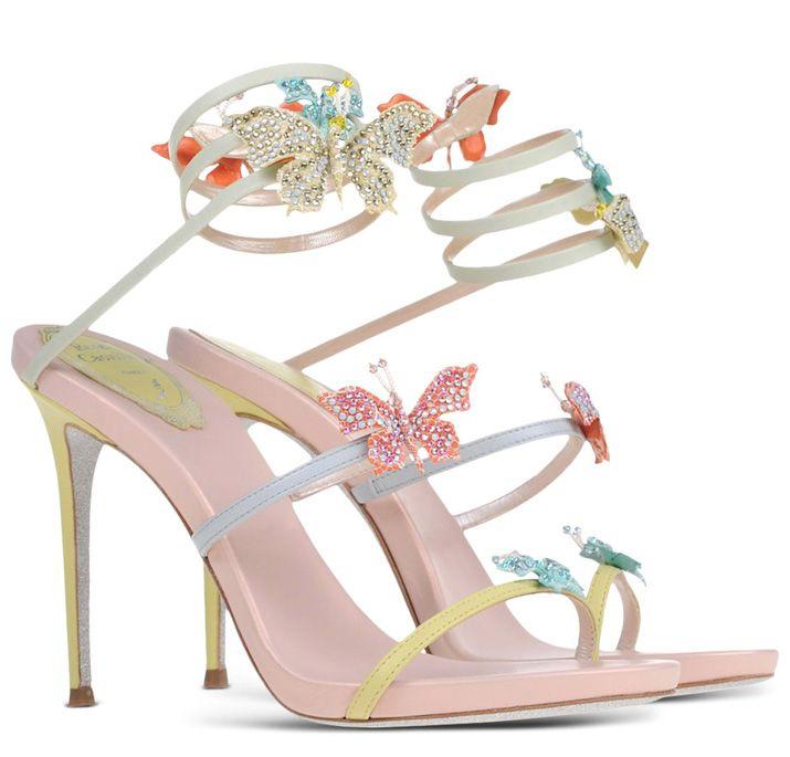 438760f1cb0 Rene Caovilla butterfly-embellished sandals