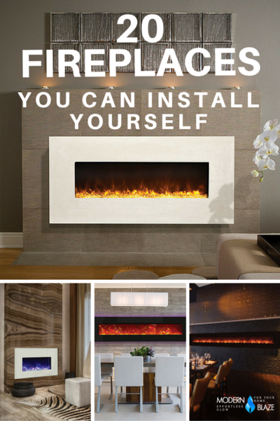 Do It Yourself Home Design: 20 Modern Fireplaces That You Can Install Yourself In 2019