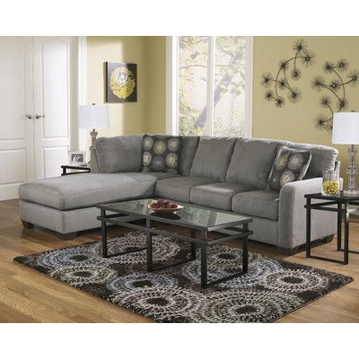 My Couch Zella - Charcoal Contemporary Sectional Sofa with Left Arm Facing Chaise by Signature Design by Ashley at Furniture u0026 Bedding  sc 1 st  Pinterest : wayfair sectional sofa - Sectionals, Sofas & Couches