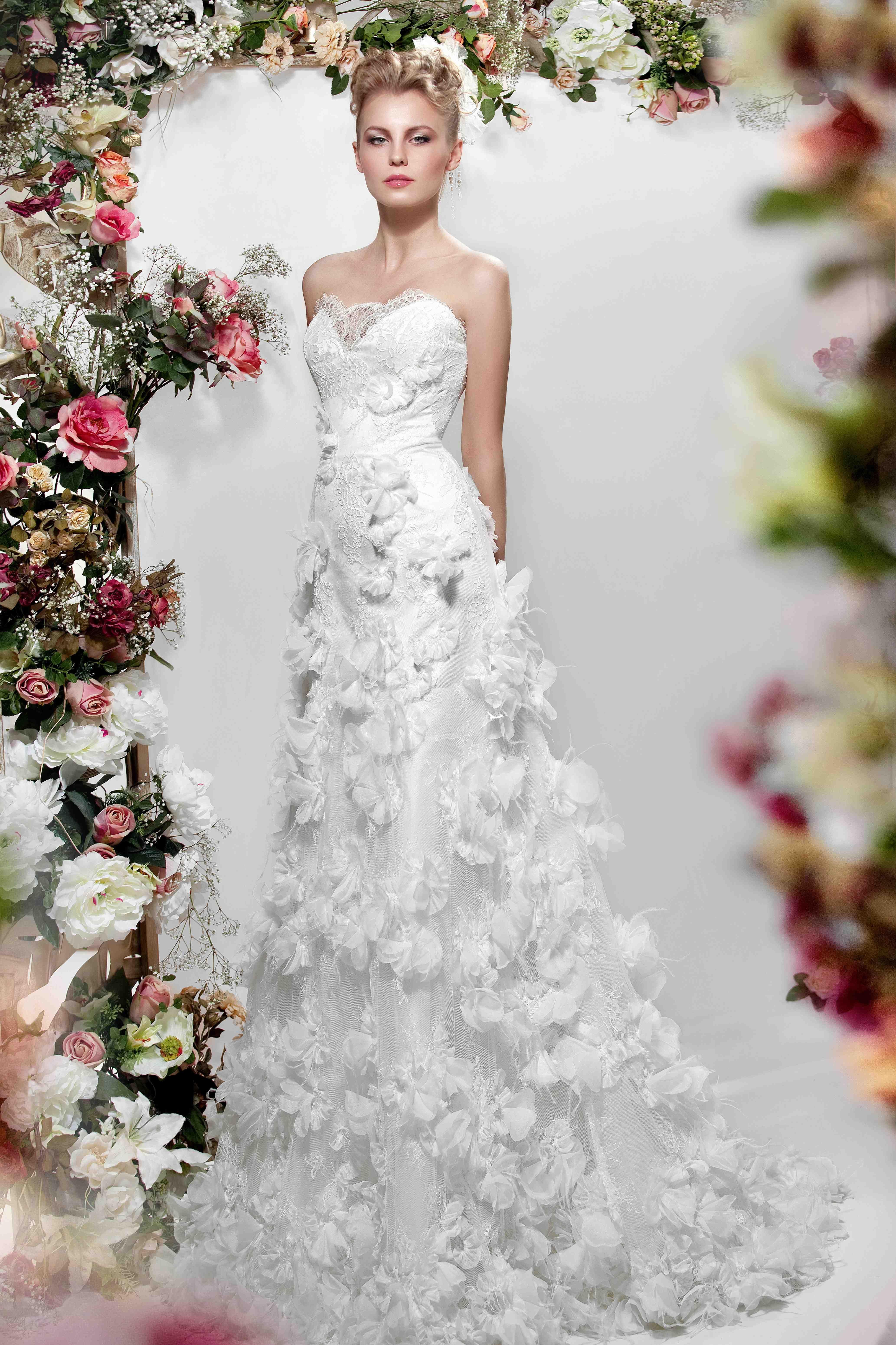Картинки свадебное платье из цветов, аниме гифки