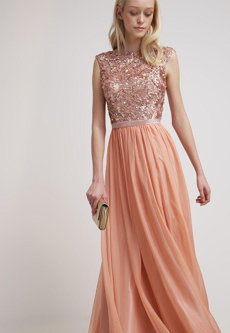 Luxuar Fashion Ballkleid Apricot Zalando De Lange Kleider Hochzeitsgast Kleider Fur Hochzeitsgaste Kleider Hochzeit