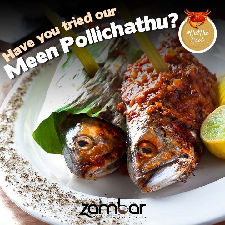 #CutTheCrab : Don't know what to order? A dish with fish is the right way to go when it comes to ordering sea food!   Have you tried our Meen Pollichathu yet?