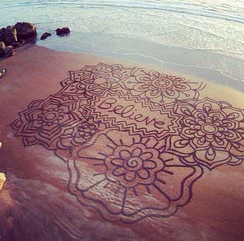 Un dibujo en la arena