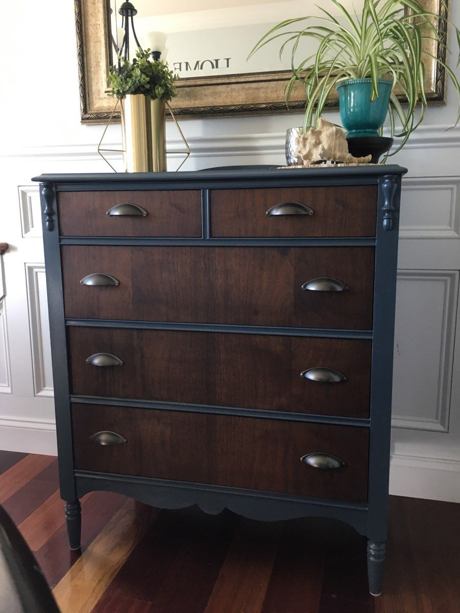 Two tone dresser  DoItYourself Projects in 2019  Wardrobe furniture Furniture Upcycled