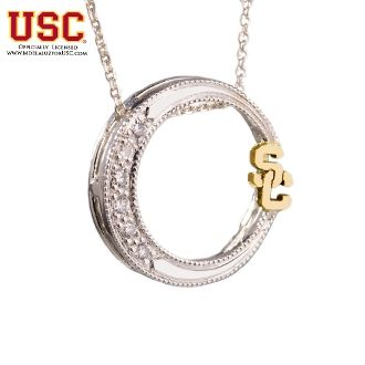USC Trojans Jewelry Genuine Diamond Pendant Alumni Gift by ...