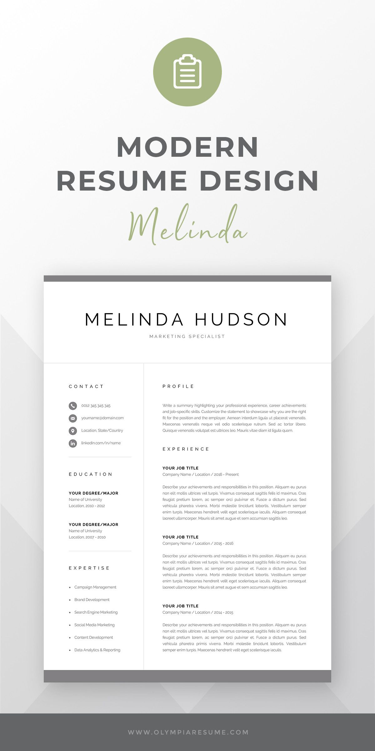 Can my resume be 2 pages unique modern resume template for