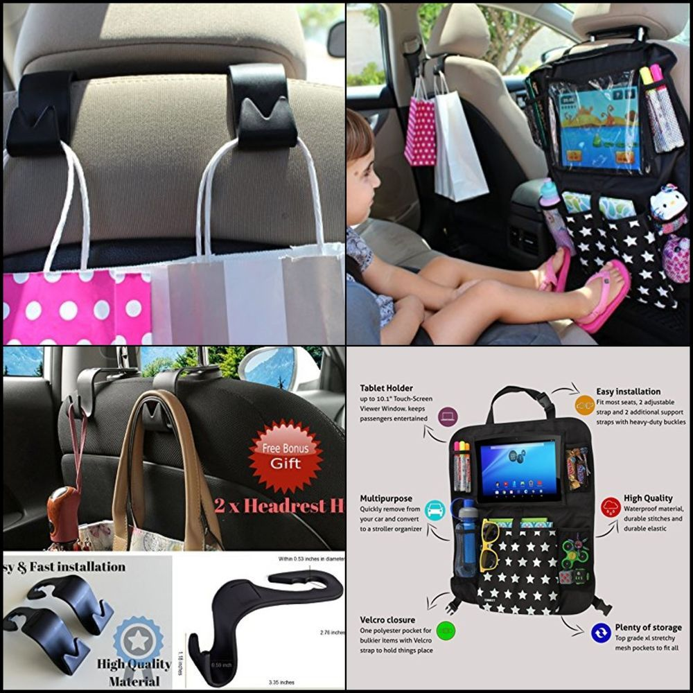 Auto Organizer Tablet Kids Car Back Seat Organizer Auto Storage Ipad Tablet Touch Screen