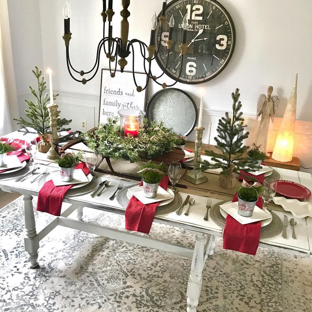 Table Decor Christmas Decor Christmas Table Holiday Decor Holiday Decor Inspo Christmas Decorations Cheap Christmas Table Decorations Cheap Christmas