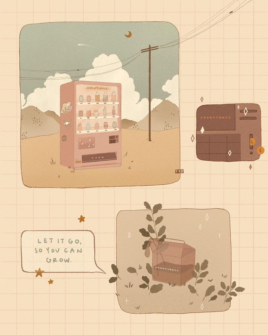 Strawberry Milk Aesthetic Google Search Seni Ilustrasi Instalasi Seni Wallpaper Kartun