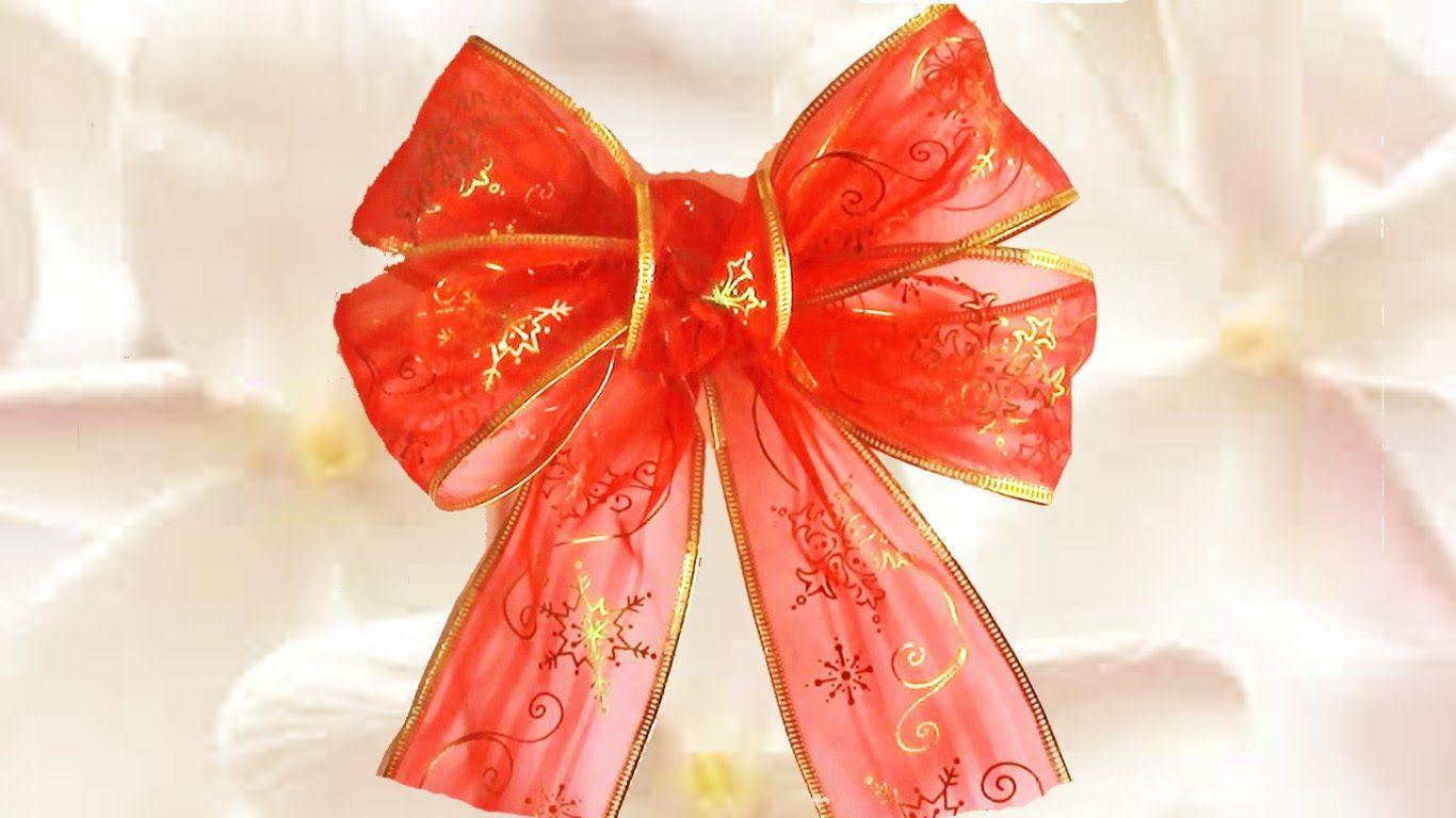Manualidades navide as lazo para rbol navide os c mo - Lazos arbol navidad ...