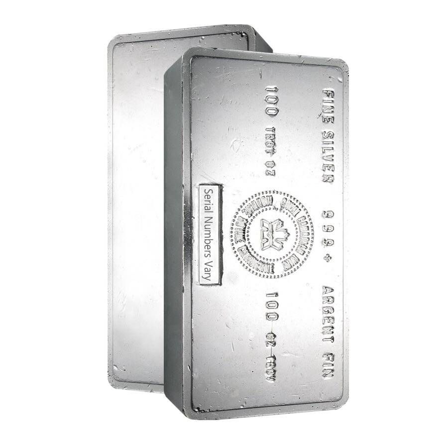 100 Oz Royal Canadian Mint Vintage Silver Bar Silver Bars Vintage Silver Silver Spot Price