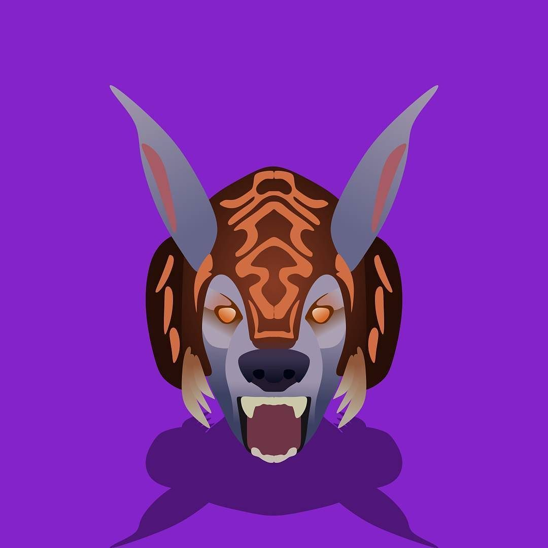 ulfsaar the ursa warrior ursa dota2 minimalistic flatdesign