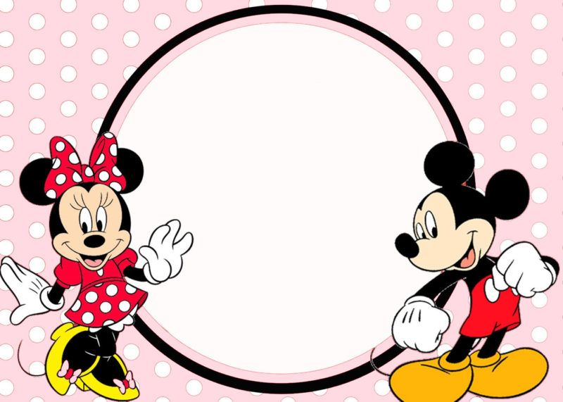 Minnie And Mickey Invitation Template