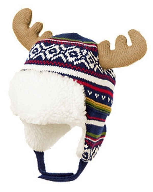 NWT Boys Gymboree JOLLY MOOSE Fair Isle Sweater Trapper Hat ...