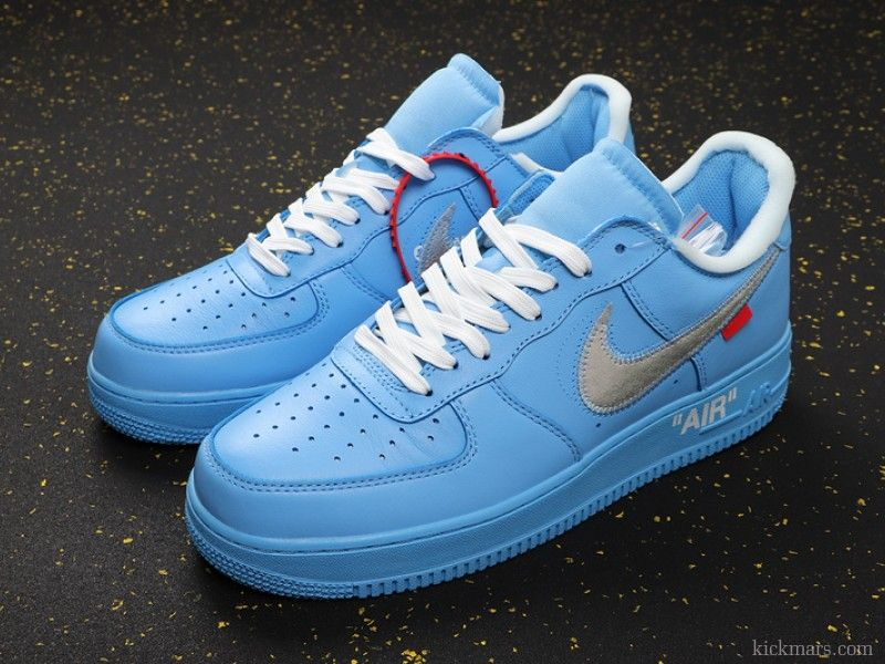 Off-White x Nike Air Force 1 Low MCA Blue CI1173-400 in 2020 | Nike fashion shoes, Custom nike shoes, Nike shoes outfits
