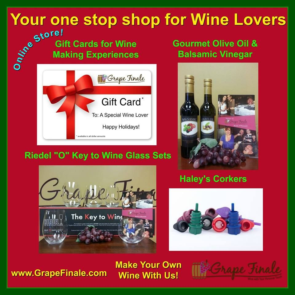 Grape Finale Is Your One Stop Shop For The Wine Lovers On Your Holiday Gift List Shop Our Online Store Email Or Call Us Grape Uses Wine Lovers Wine Glass Set