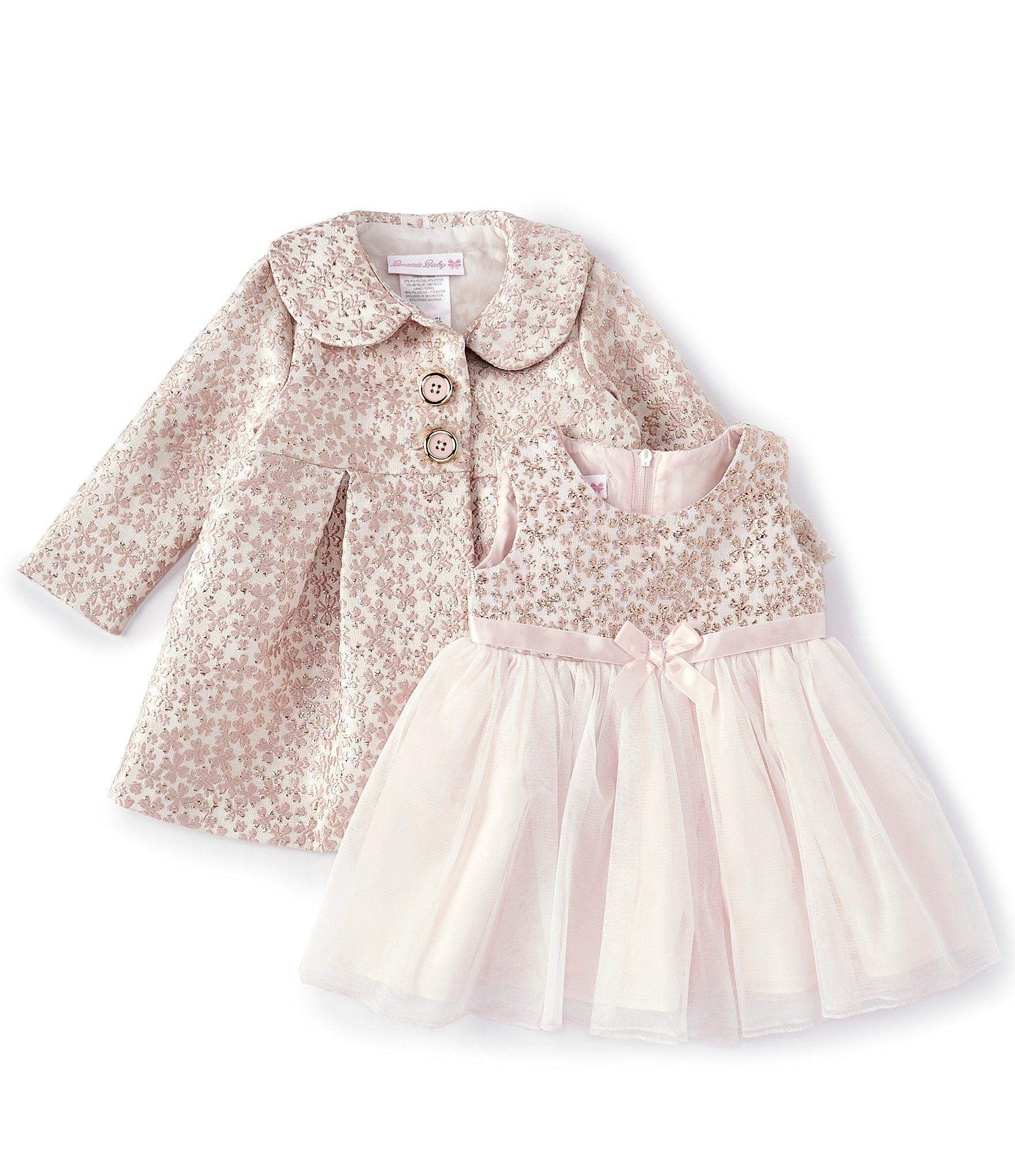 Bonnie Jean Baby Girls Newborn24 Months BrocadeFloral