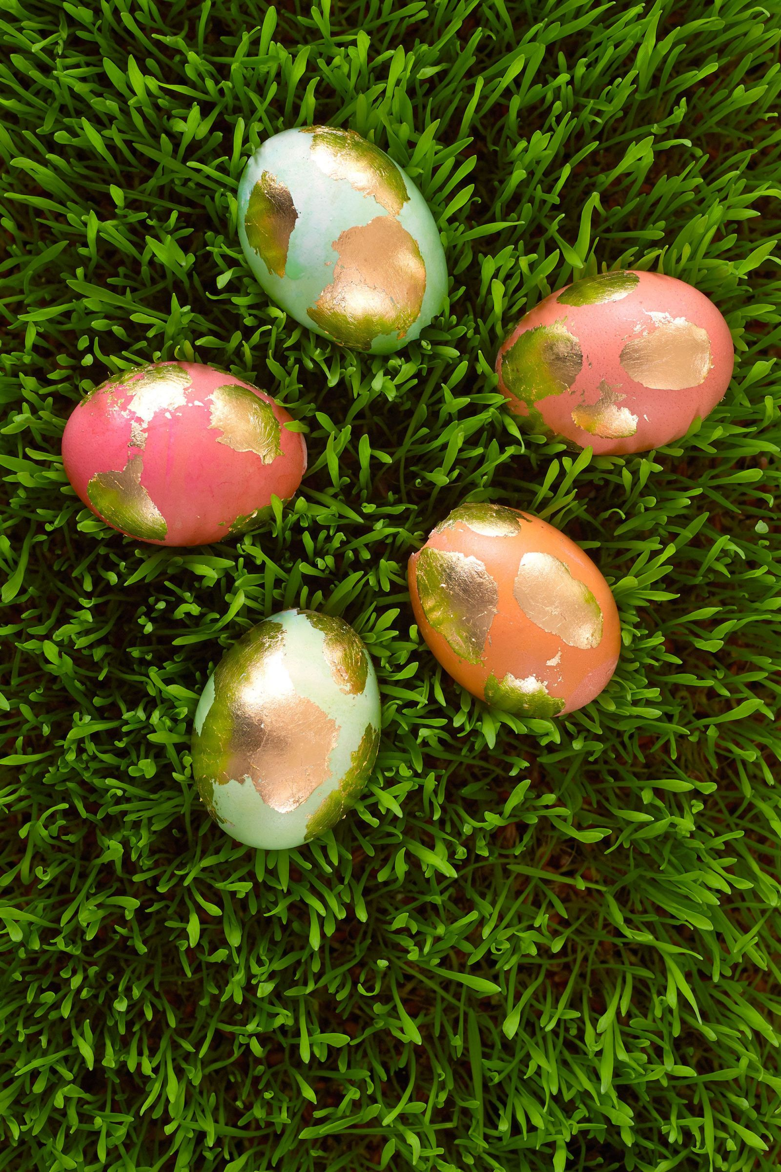 Use gold leaf to make these beautiful Golden Easter Eggs.