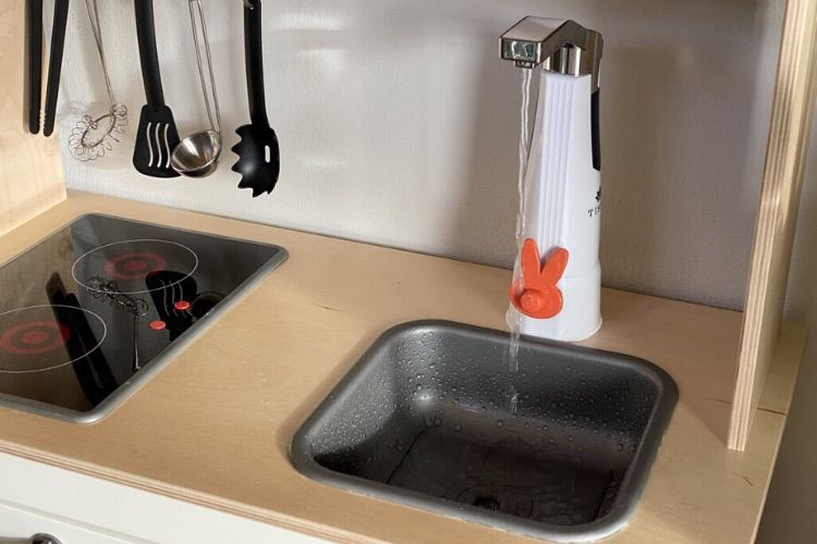 Look Ma A Working Sink On My Duktig Play Kitchen Ikea Play