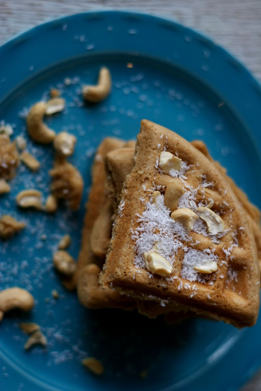 Coconut Cashew Waffles Healthy Regards, Hayley Healthy