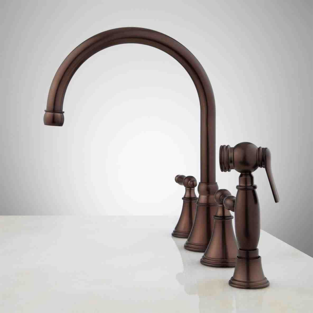 New Post Oil Rubbed Bronze Kitchen Faucet With Soap Dispenser