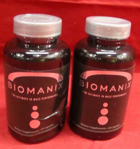 new lot 2 biomanix male performance dietary supplement 120 cap exp
