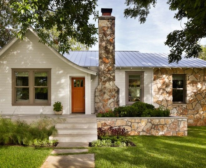 Cool Gabled Roof Trend Austin Traditional Exterior Remodeling Ideas With  Chimney Entry Flagstone Front Door Gray