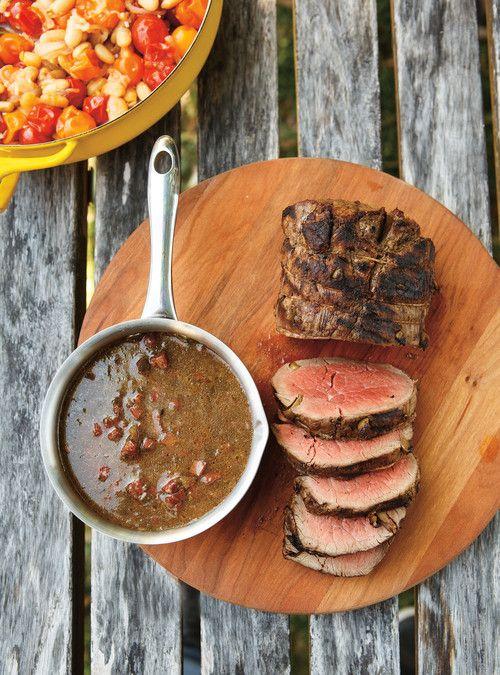R ti de filet de boeuf aux olives et au chorizo recette boeuf beef rind - Cuisiner un roti de boeuf au four ...