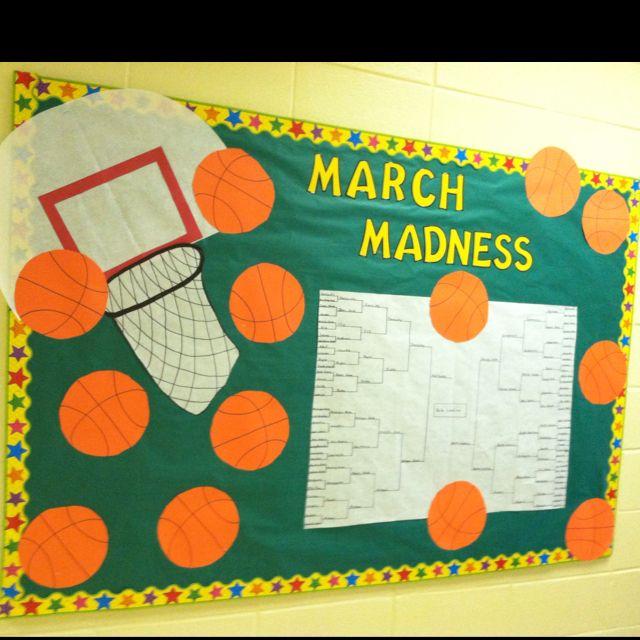 Classroom Break Ideas : March madness bulletin board maybe call it math