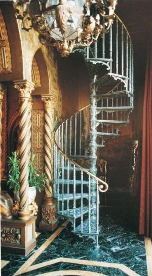 Best Lovely Ornate Iron Spiral Stairs Beautiful Stairs 400 x 300