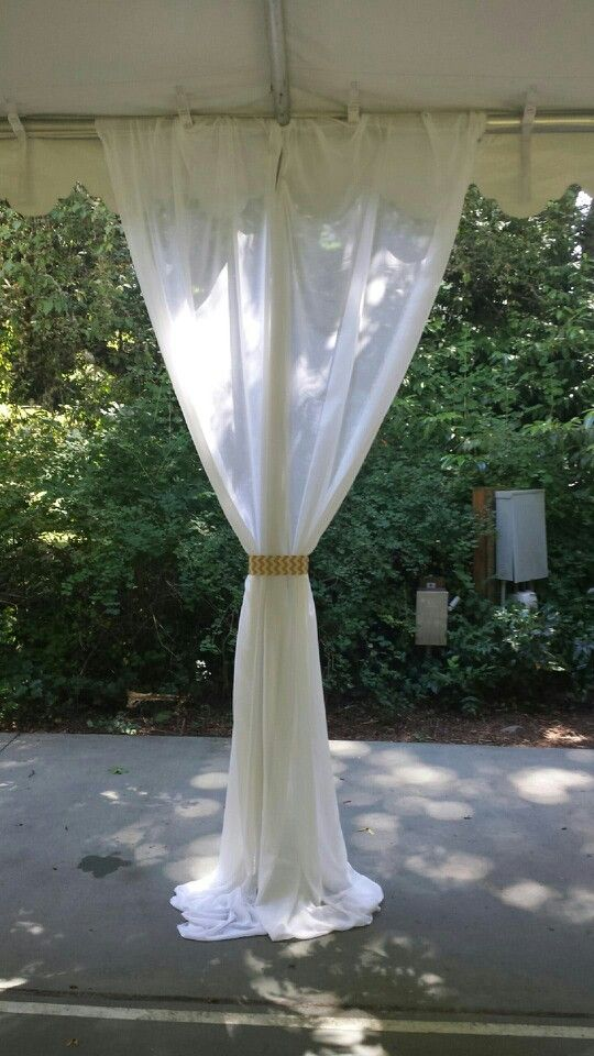 Draping with Chevron ties in the middle.
