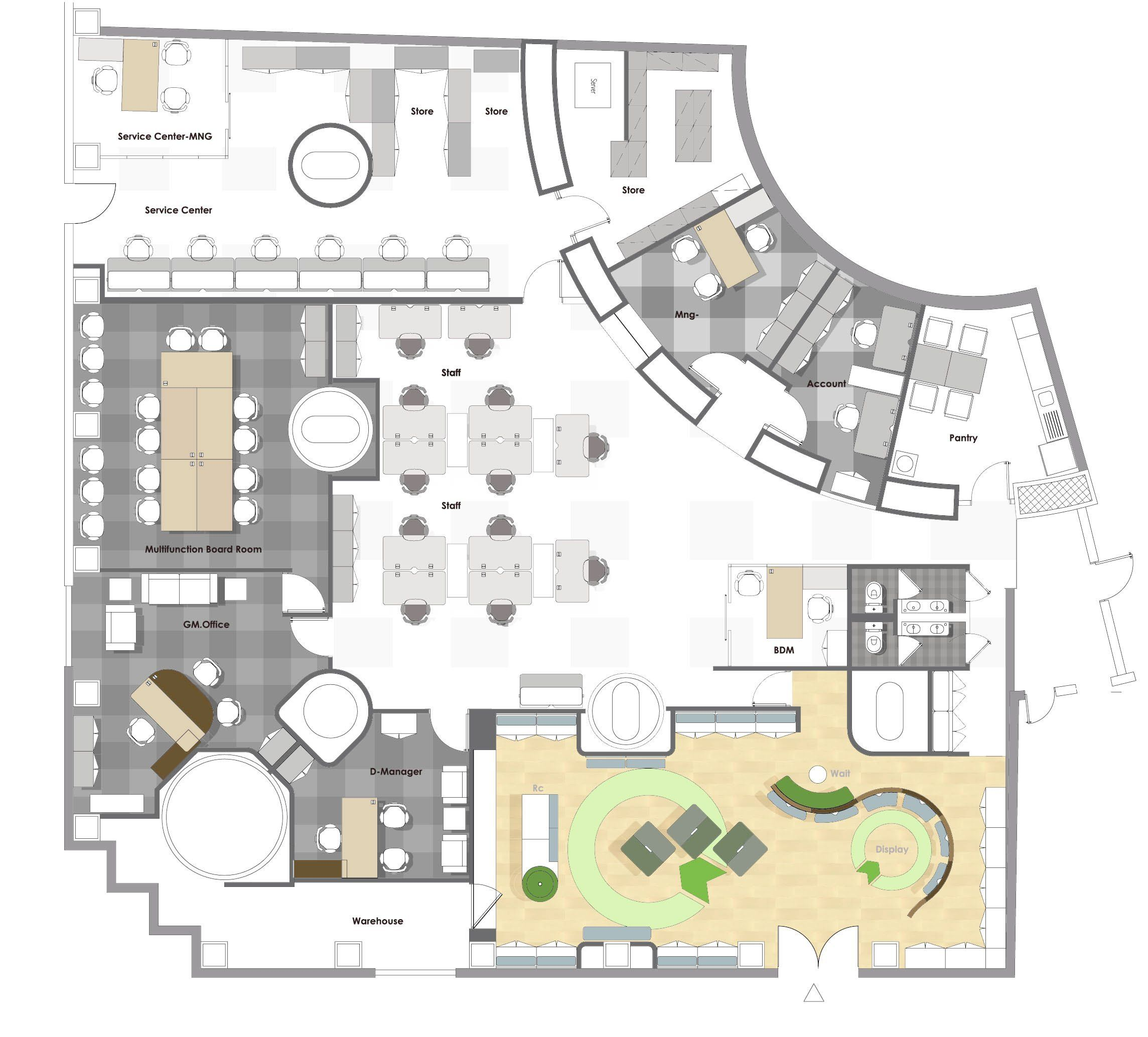 Designing Office Layout Rectangle Attractive Office Plans And