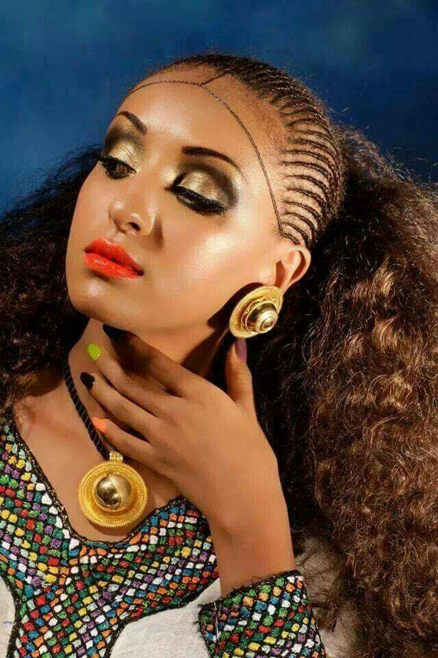 Habesha Beauty. | Natural Hair Style Braids | Pinterest ...