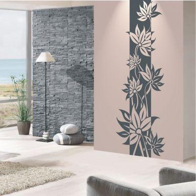 Deko Shop 24 De Wandtattoo Banner Blumenranke Malerei Wandgestaltungen Wandgemalde Selbstgemacht Dekorative Wandmalereien