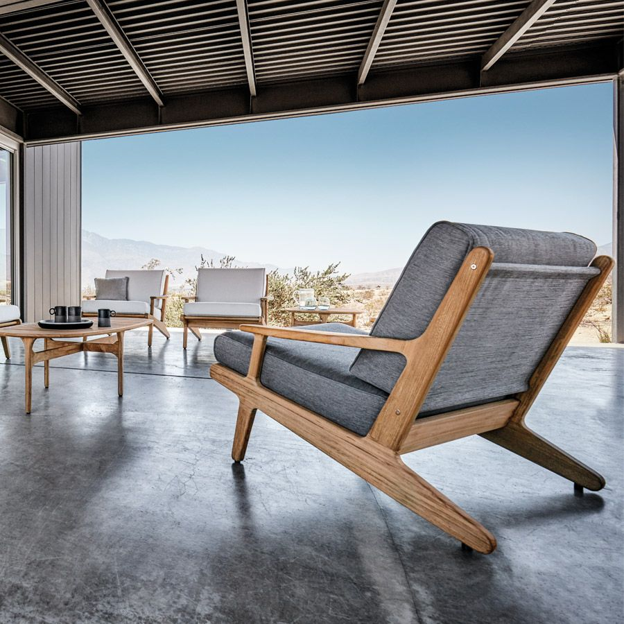 Gloster bay lounge chair experience well crafted solid teak outdoor lounge