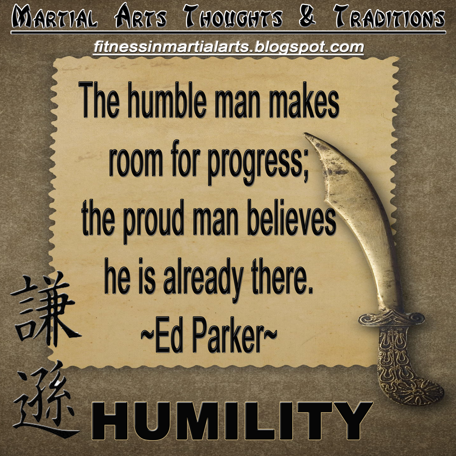 Humility in the Martial Arts Ed Parker Quote (With