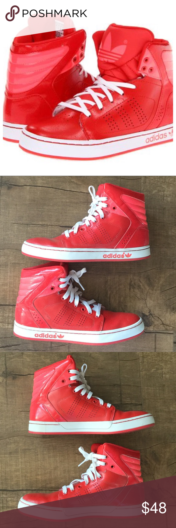 8d99d9832f8 NWOT Adidas Originals Adi High Ext J Sneakers Only worn once rad red