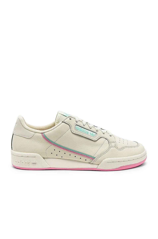 Image 1 Of Adidas Originals Continental 80 In Off White Pink Adidas Originals Adidas The Originals