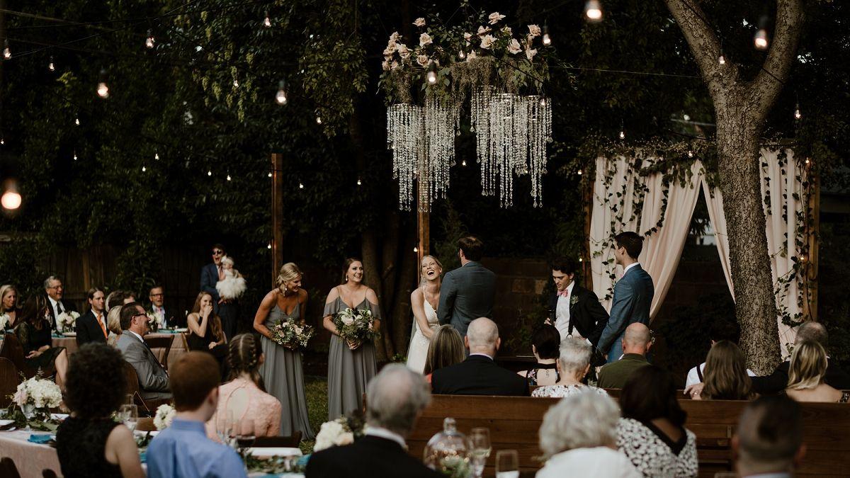 backyard wedding ceremony in Fort Worth, TX | Fort worth ...