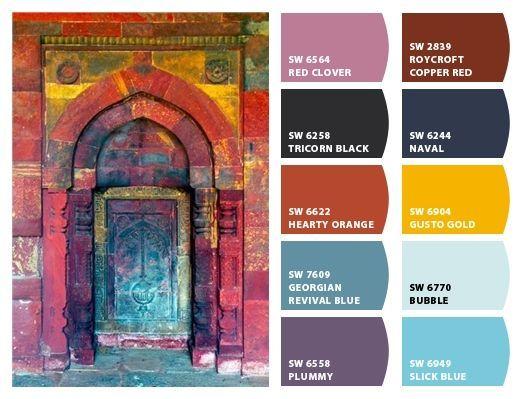 ผลการค้นหารูปภาพสำหรับ Bohemian Color Bedroom Paint