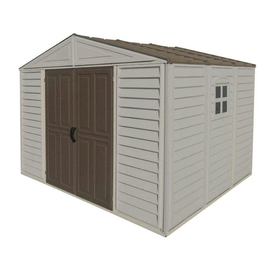 duramax building products 10 ft x 8 ft gable vinyl storage shed lowes