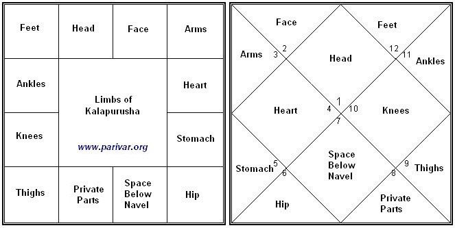South And North Indian Chart Styles And Housebhava Association With