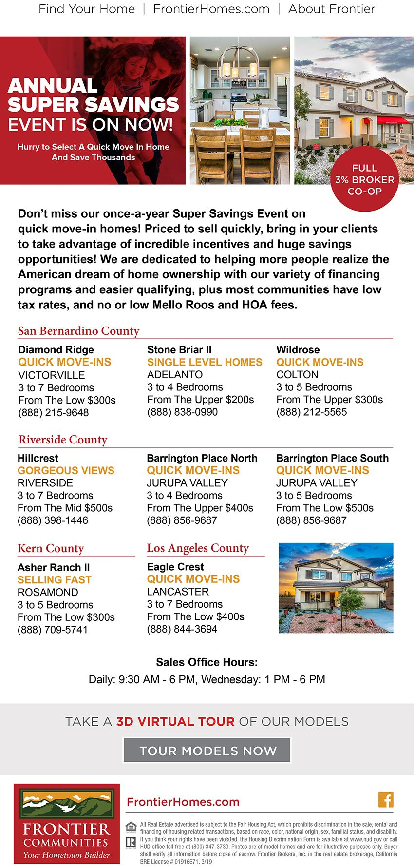 New Homes for Sale in the Southern California Hurry Before