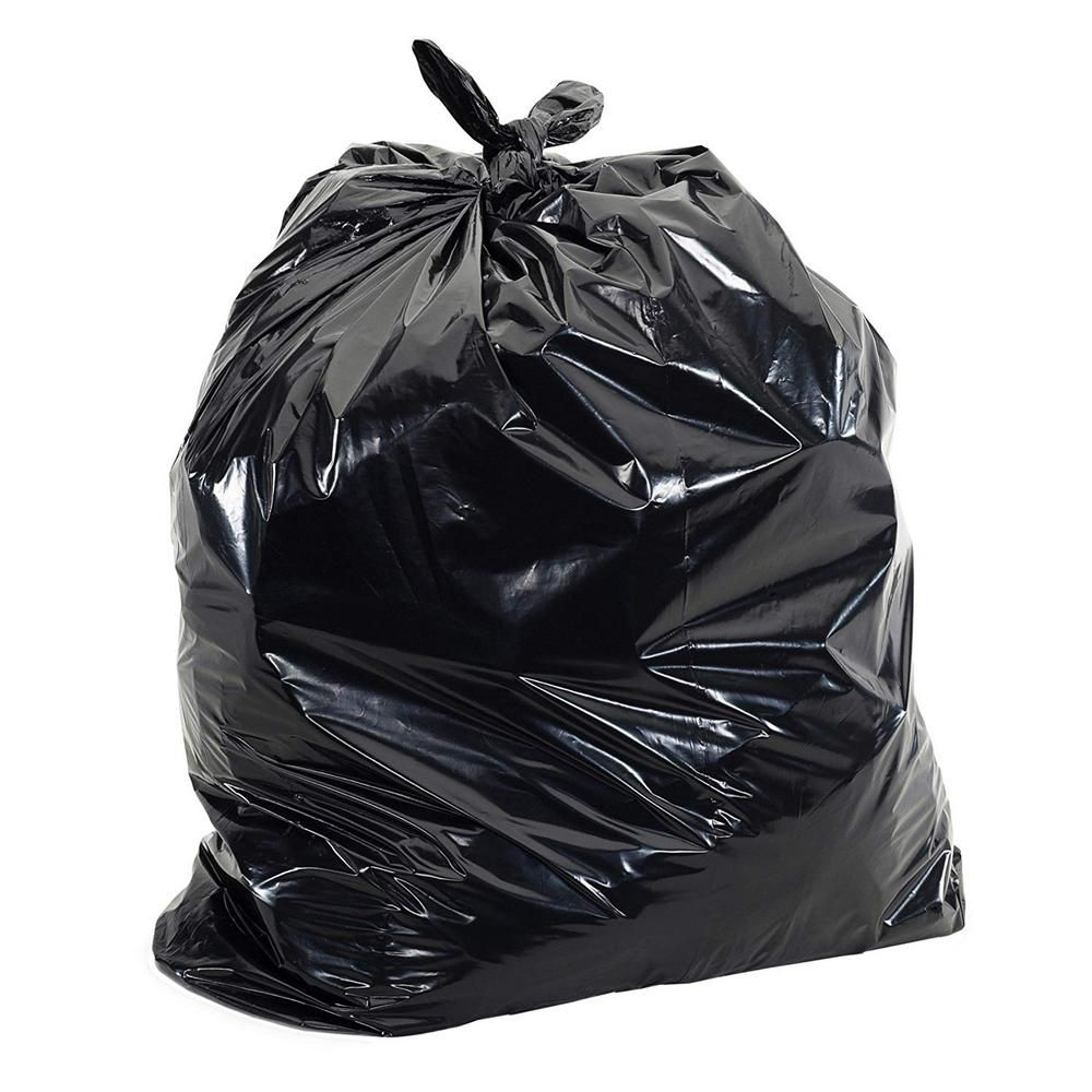Aluf Plastics 42 Gal Black Contractor Bags 100 Count 1 5 Mil Pg6 4851 The Home Depot In 2021 Bags Trash Bag Trash Bags