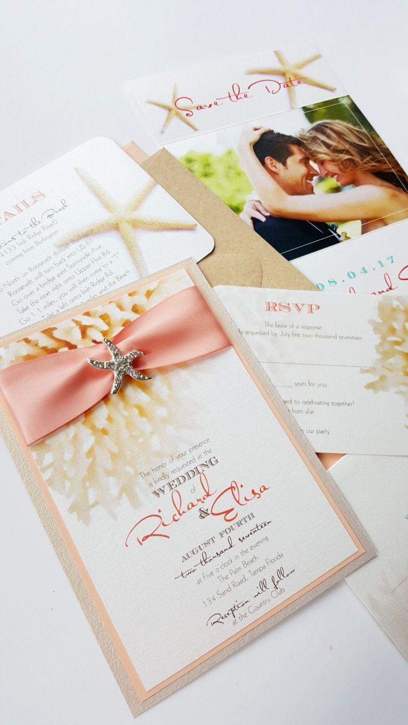 Beach Wedding Invitations Destination wedding invitation