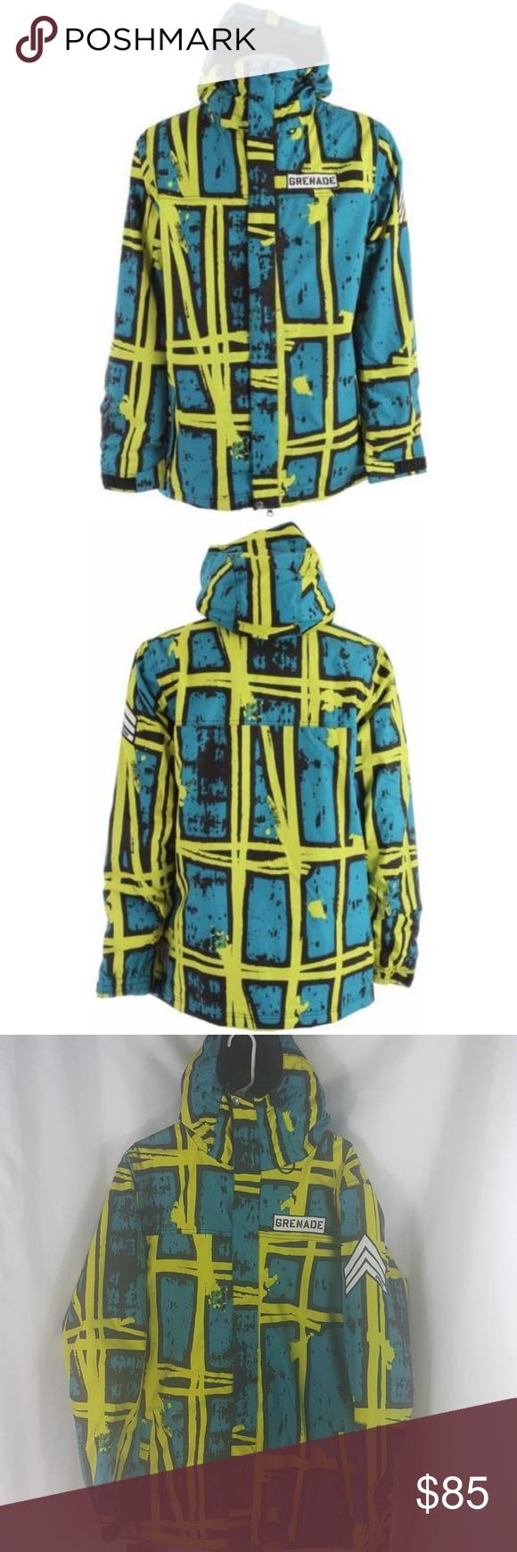 Grenade Doom Slime Blue Snowboard Ski Jacket NEW! From the
