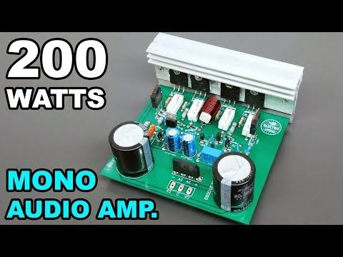 How to make 100W amplifier circuit using two transistors