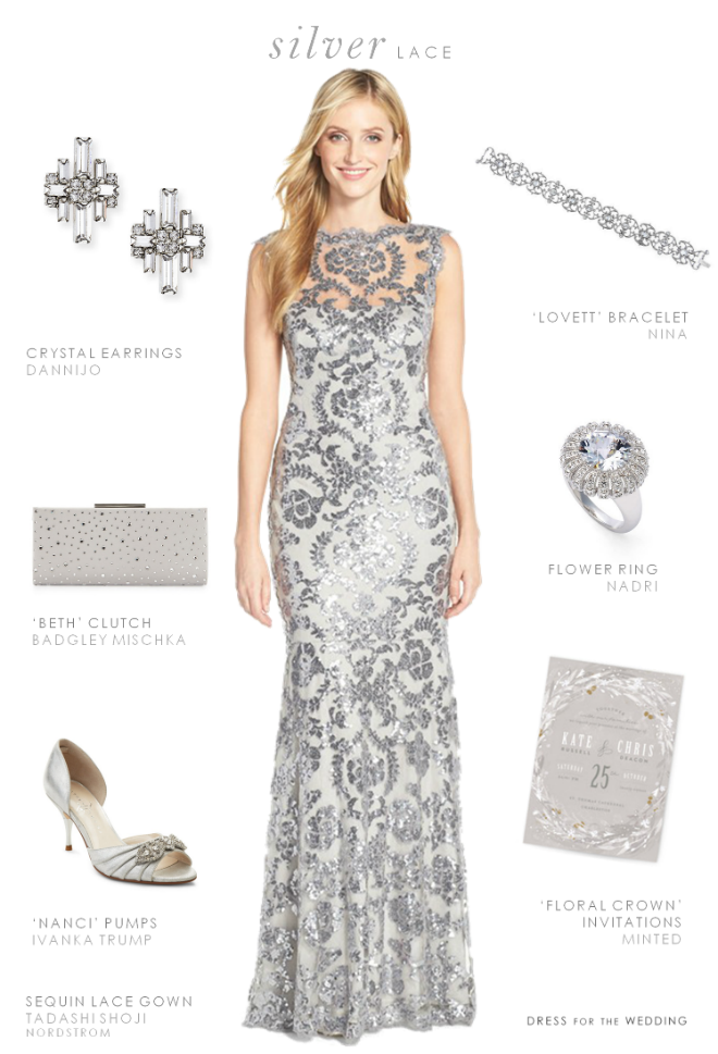Silver prom dress accessories